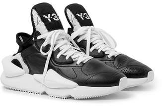 Y-3 Kaiwi Neoprene-Trimmed Full-Grain Leather