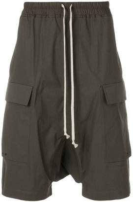 Rick Owens drop-crotch cargo shorts