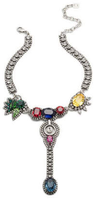 Dannijo Diana Multicolor Crystal Statement Necklace