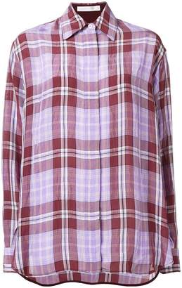 Victoria Beckham checked shirt