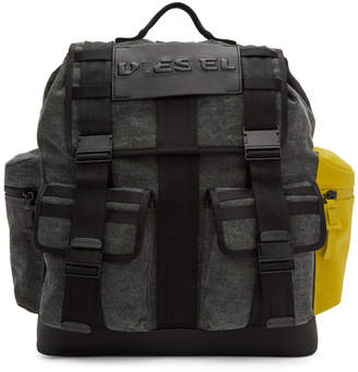 Diesel Grey and Black M-Cage Backpack