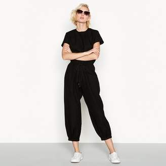 Noisy May Simple Stories - Black Cotton 'Louvre' Short Sleeve Casual Jumpsuit