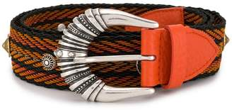 Orciani woven engraved buckle belt