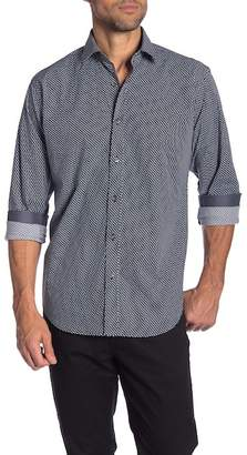 Bugatchi Checkered Long Sleeve Classic Fit Shirt