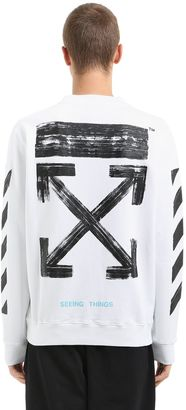 Stripes & Arrows Logo Cotton Sweatshirt $459 thestylecure.com