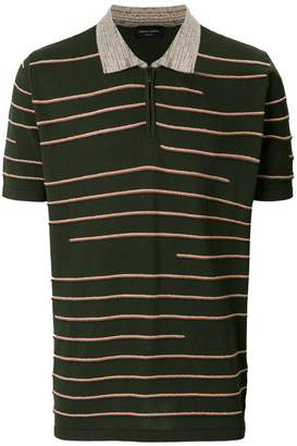 Roberto Collina textured stripe polo shirt