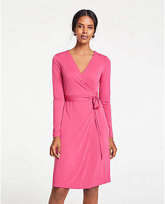 Ann Taylor Petite Matte Jersey Wrap Dress