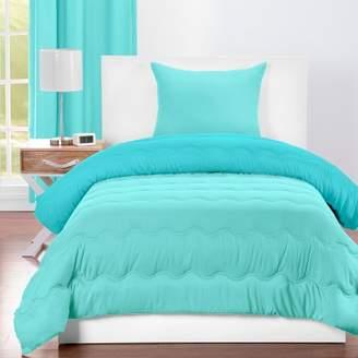 Crayola Robbin's Egg Reversible Comforter With Sham Blue/Turquoise