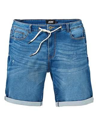 Jacamo Midwash Loopback Denim Shorts