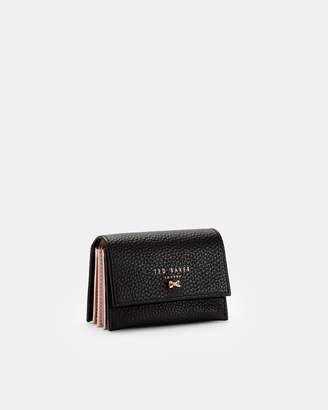 Ted Baker EVES Textured leather concertina credit card holder