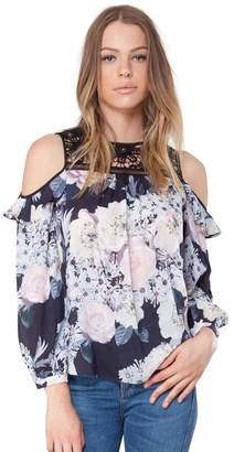 Hale Bob Amaris Cold Shoulder Top