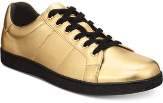 INC International Concepts I.n.c. Men's Orion Metallic Low-Top Sneakers, Created for Macy's Men's Shoes
