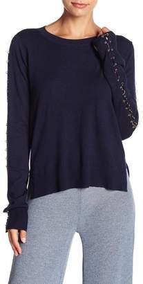 Fate Grommet & Link Sleeve Crew Neck Sweater