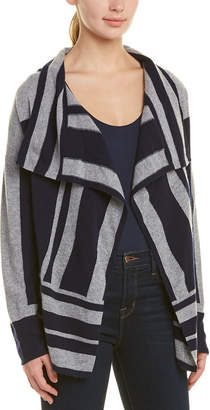 InCashmere In Cashmere Colorblocked Open Front Cardigan