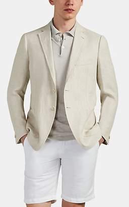 Fioroni Men's Herringbone Linen Two-Button Sportcoat - Beige, Tan