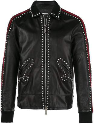 DSQUARED2 studded leather jacket