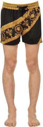 Versace I Heart Baroque Silk Pajama Shorts