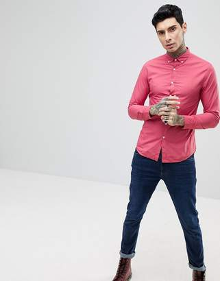 Farah Farley Slim Fit Button Down Shirt in Pink
