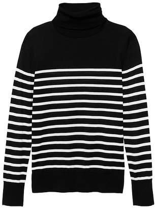 Banana Republic Washable Merino Wool Stripe Turtleneck Sweater