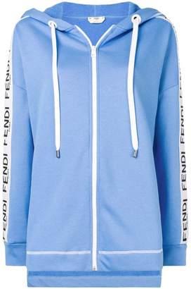 Fendi logo stripe hoodie