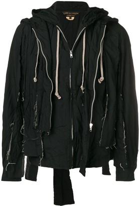 Comme des Garcons hooded deconstructed jacket