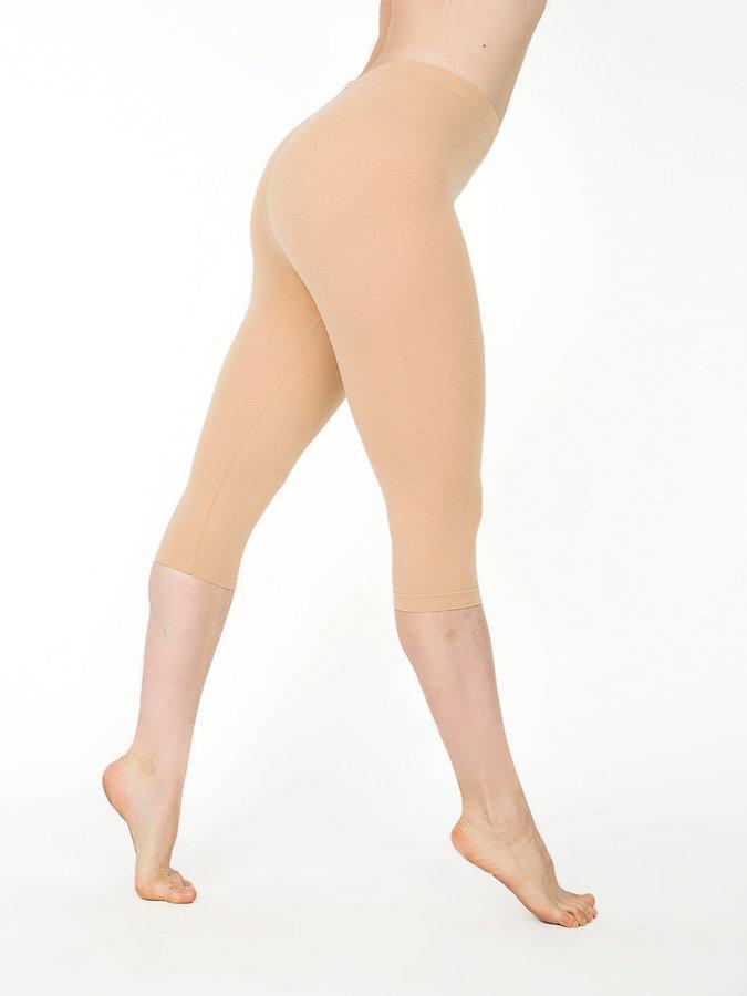 American Apparel Cotton Spandex Jersey Crop Legging