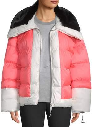 Biannual Women's Colorblock Puffer Coat