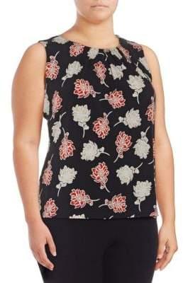 Calvin Klein Plus Floral Sleeveless Top
