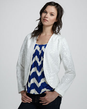 T-Bags T Bags Sequined Drape Jacket
