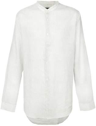 John Varvatos band collar printed shirt