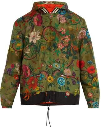 Gucci Floral-print windbreaker