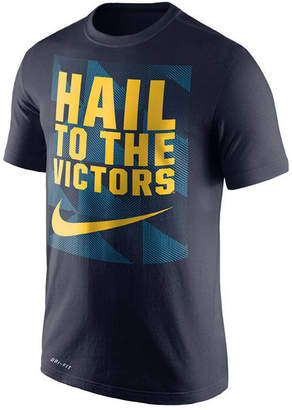 Nike Men's Michigan Wolverines Dri-fit Fluid Force Mantra T-Shirt