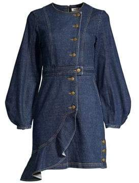 DAY Birger et Mikkelsen AMUR Sammy Asymmetric Organic Cotton-Blend Denim Dress