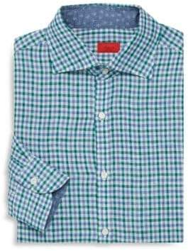 Isaia Regular-Fit Check Dress Shirt