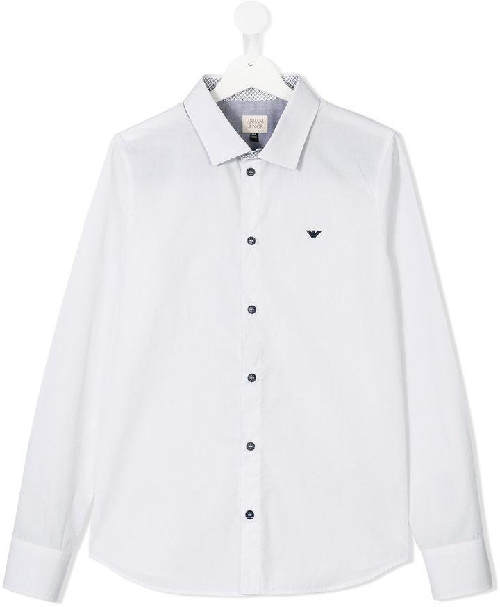 Armani JuniorArmani Junior logo embroidered shirt