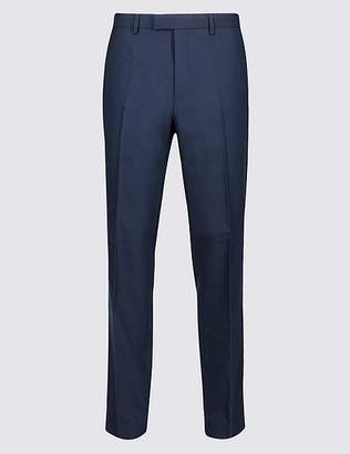 Marks and Spencer Navy Textured Slim Fit Trousers