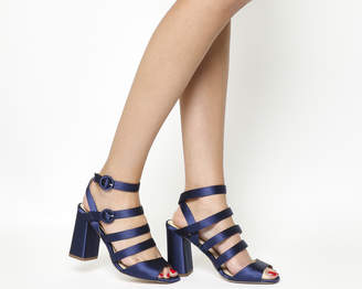 Office Home Time Square Toe Strappy Block Heels
