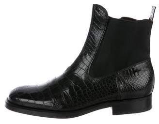 Dolce & Gabbana Crocodile Chelsea Boots
