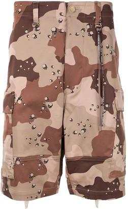 Mastermind World camouflage cargo shorts