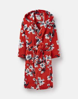 Joules 124814 Fluffy Hooded Dressing Gown