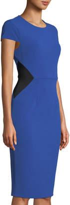 Donna Morgan Stretch Crepe Colorblock Sheath Dress