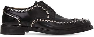 Aroeloc Studded Leather Lace-Up Shoes