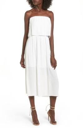 Women's Wayf Kizzie Strapless Midi Dress $75 thestylecure.com