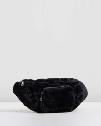 Missguided Faux Fur Front Pocket Bum Bag