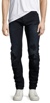 G-Star Arc 3D Distressed Slim Jeans, Black $190 thestylecure.com