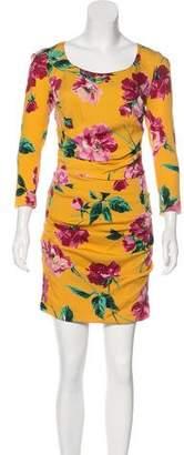 Dolce & Gabbana Printed Long Sleeve Dress