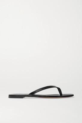 Gianvito Rossi Leather Flip Flops - Black
