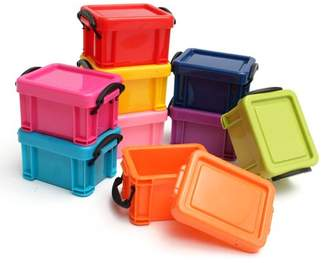 Storage Bins,Asewin 9PCs Multicoloured Storage Boxes Plastic Container Bin Organizer with Lid,Decorative Organization Boxes for Home & Office