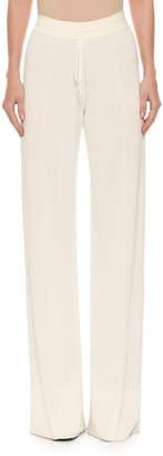 Ermanno Scervino Tie-Waist Pull-On Wide-Leg Pants