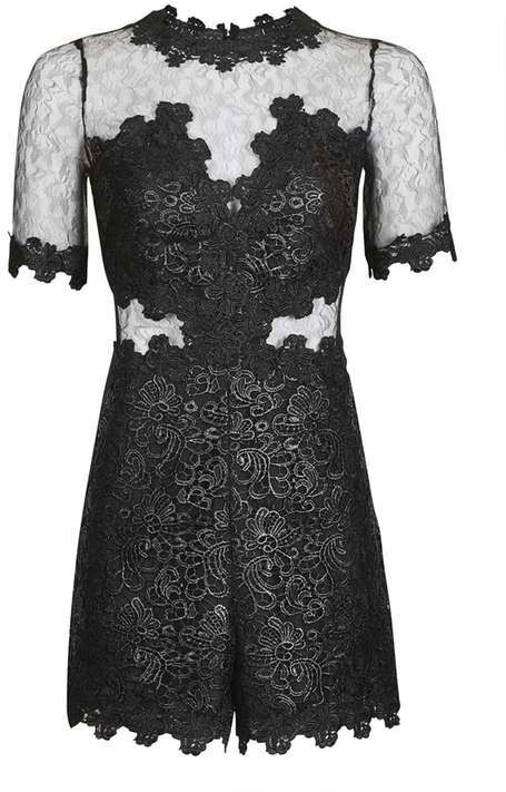 TopshopTopshop Coated lace playsuit